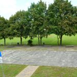 Der Basketballplatz